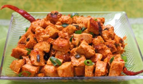 Stir Fried Spicy Tofu