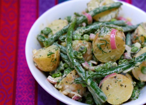 Baby New Potatoes, Pea and Green Bean Salad
