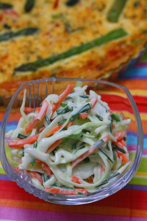 Homemade Coleslaw with Chives