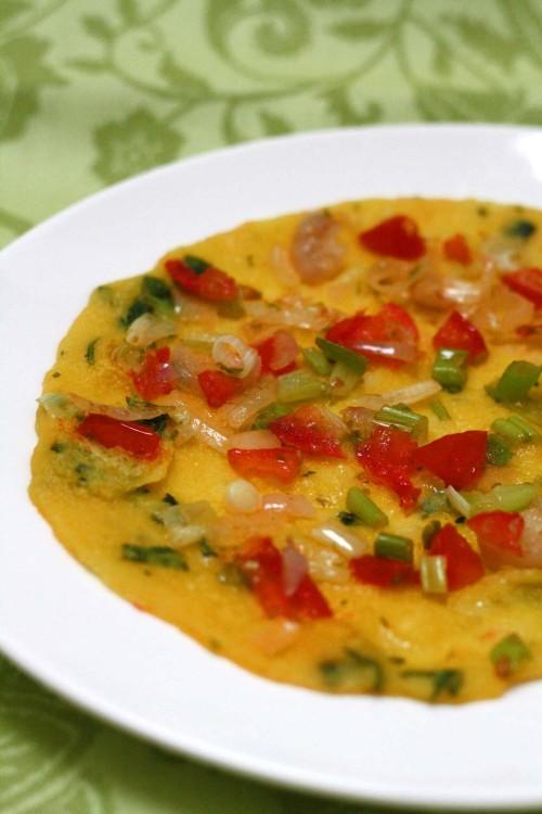 Moong Dal Chillas (Indian Lentil Pancake)
