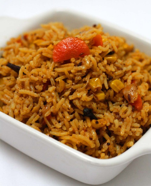 Carrot and Sweet corn Rice