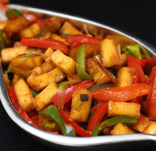 Quick Chilli Paneer Stir Fry