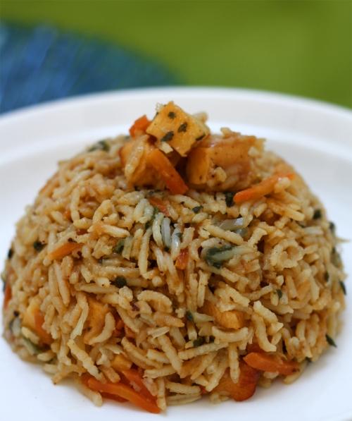 Indo Chinese Paneer Rice